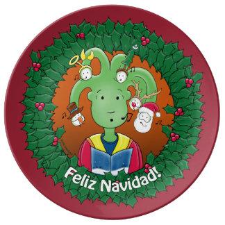 Little Medusa. Feliz Navidad! Porcelain Plates