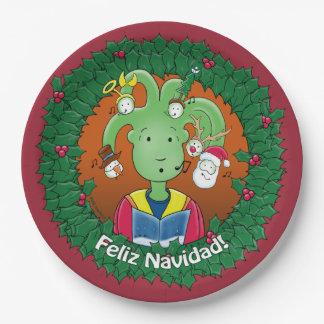 Little Medusa. Feliz Navidad! 9 Inch Paper Plate