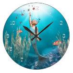 Little mermaid 1 reloj de pared