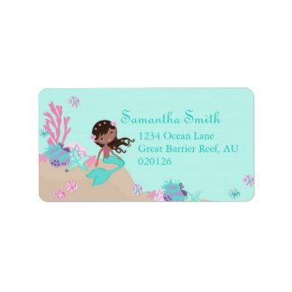 Little Mermaid Address Label AA