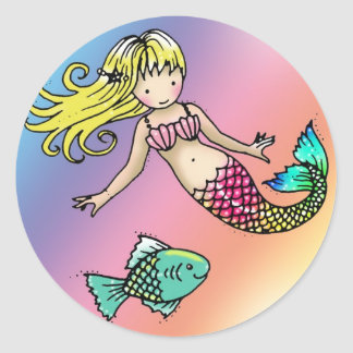 Little Mermaid and Fish Stickers