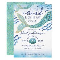 Little Mermaid Baby Shower Invitation Mermaid Baby