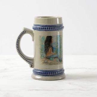 Little Mermaid Blue Design Beer Stein