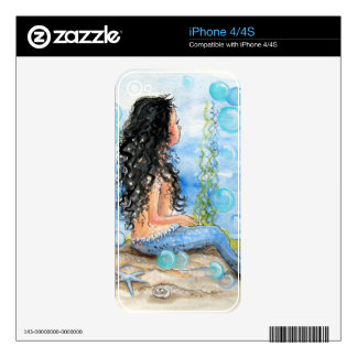 Little Mermaid Blue Design Decals For The iPhone 4