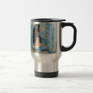 Little Mermaid Blue Design Travel Mug