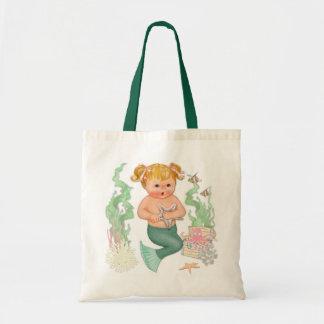 Little mermaid - chica bolsa tela barata