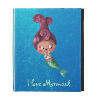 Little mermaid con el pelo rosado oscuro
