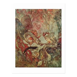 Little mermaid de Dulac Tarjeta Postal