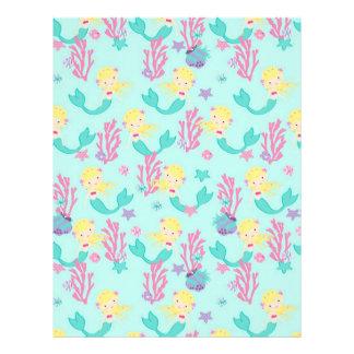 Little Mermaid Dual-sided Scrapbook Paper Blonde 1