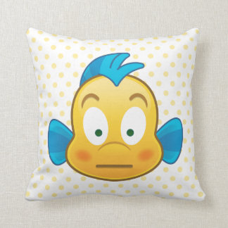 Little Mermaid Emoji | Flounder Throw Pillow