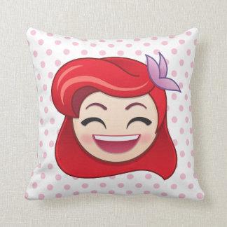 Little Mermaid Emoji   Princess Ariel - Happy Throw Pillow
