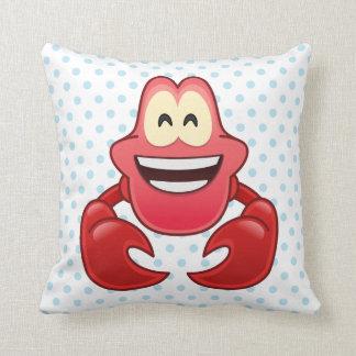 Little Mermaid Emoji | Sebastian Throw Pillow