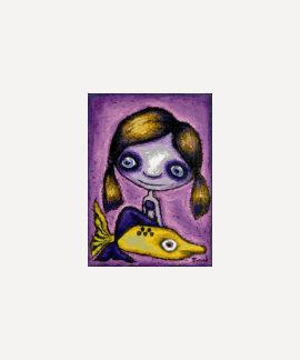 Little mermaid en un taxi del tiburón camisetas