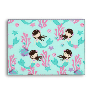 Little Mermaid Envelope A6 Brunette