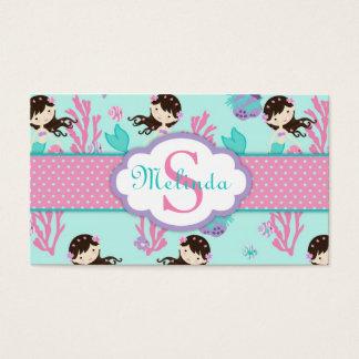 Little Mermaid Gift Tag M Brunette