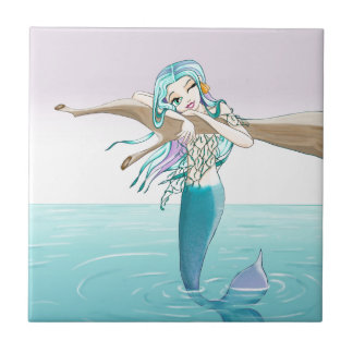 Little Mermaid Items Ceramic Tile