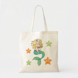 Little mermaid lindo bolsa tela barata