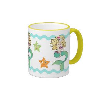 Little mermaid lindo taza de dos colores