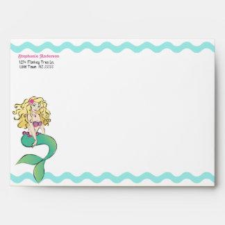 Little mermaid lindo y sobre de la criatura del ma