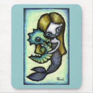 Little mermaid mouse pad