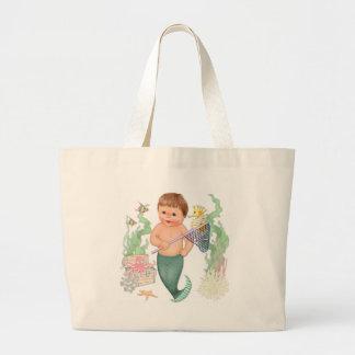 Little mermaid - muchacho bolsa tela grande