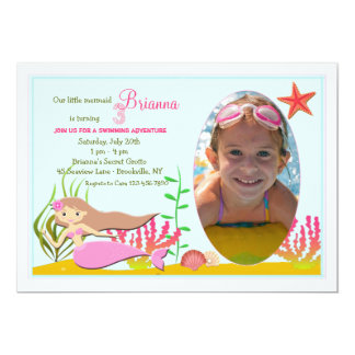 Little Mermaid Photo Invitation