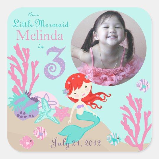 Little Mermaid Photo Sticker Auburn 3