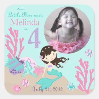 Little Mermaid Photo Sticker Brunette 4