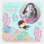 Little Mermaid Photo Sticker Brunette 6