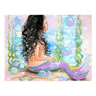 Little Mermaid Pink Postcard