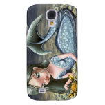 Little mermaid playing with a crab galaxy s4 cases