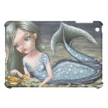 Little mermaid playing with a crab iPad mini case