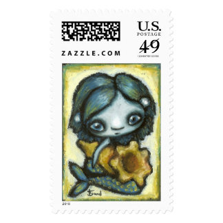 Little mermaid postage stamps
