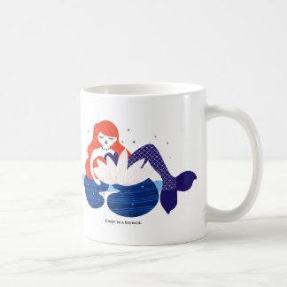 Little Mermaid resting in a Flower Coffee Mug