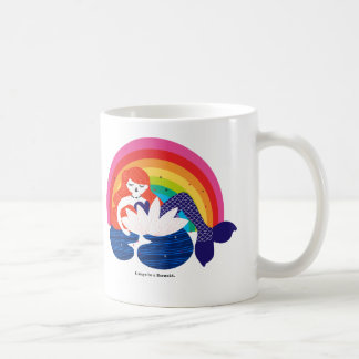 Little Mermaid resting in a Flower. Coffee Mug