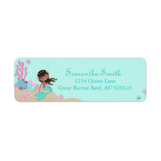 Little Mermaid Return Label AA Return Address Label