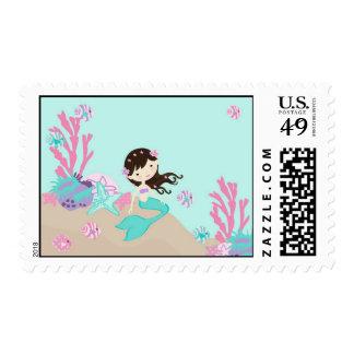 Little Mermaid Stamp Brunette