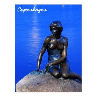 Little mermaid statue, Copenhagen, Denmark Postcard