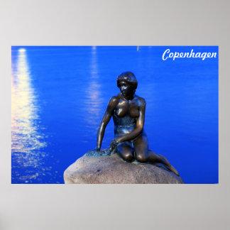 Little mermaid statue, Copenhagen, Denmark Print