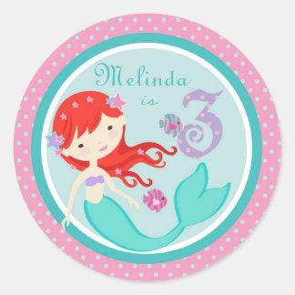 Little Mermaid Sticker Auburn 3B