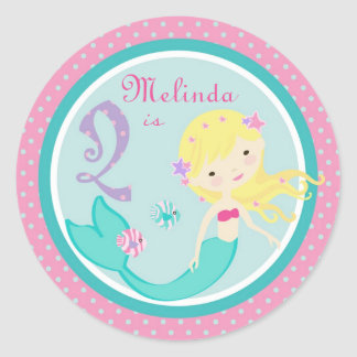 Little Mermaid Sticker Blonde 2