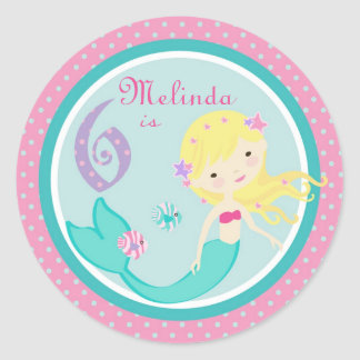 Little Mermaid Sticker Blonde 6