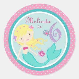 Little Mermaid Sticker Blonde 6B