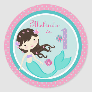 Little Mermaid Sticker Brunette 1B