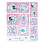 Little Mermaid Topper Template AA7 Personalized Flyer
