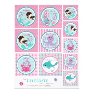 Little Mermaid Topper Template Bru3 Flyer