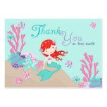 Little Mermaid TY Gift Tag L2 Auburn Business Card Templates