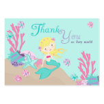 Little Mermaid TY Gift Tag L2 Blonde Business Card Template