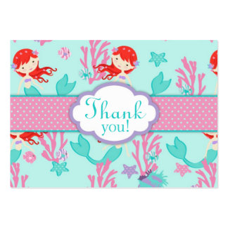 Little Mermaid TY Gift Tag L Auburn Large Business Card