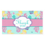 Little Mermaid TY Gift Tag M Blonde Business Card